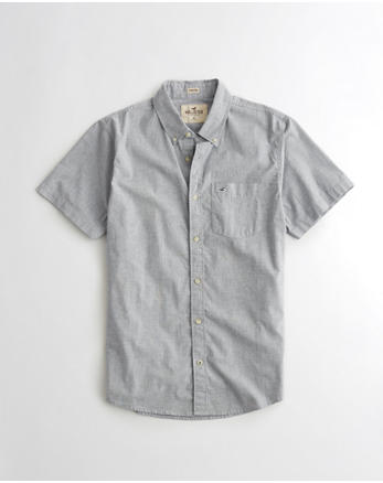 hol Stretch Short-Sleeve Poplin Shirt