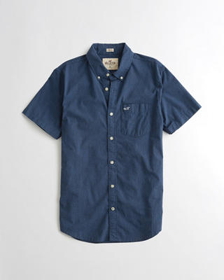 Stretch Short-Sleeve Poplin Shirt