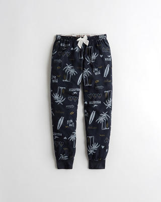 Patterned Flannel Sleep Joggers