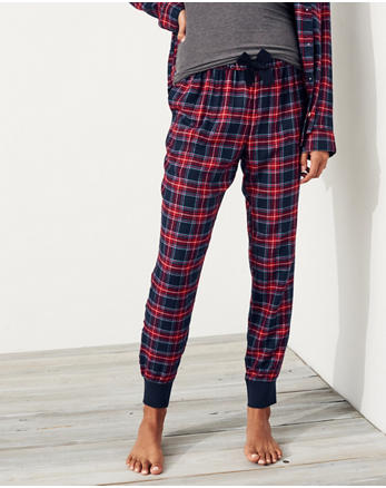 hol Patterned Flannel Sleep Joggers