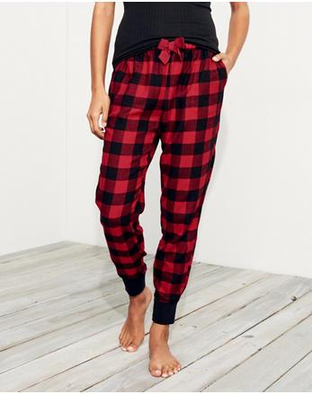 hol Patterned Flannel Sleep Joggers