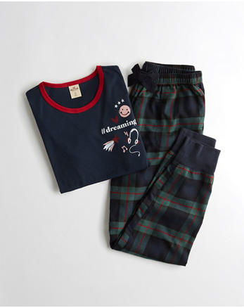 hol Holiday Flannel Sleep Set