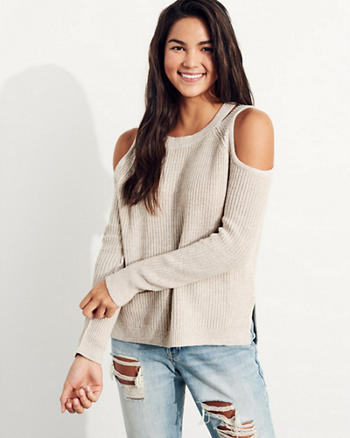 Cutout Cold Shoulder Sweater