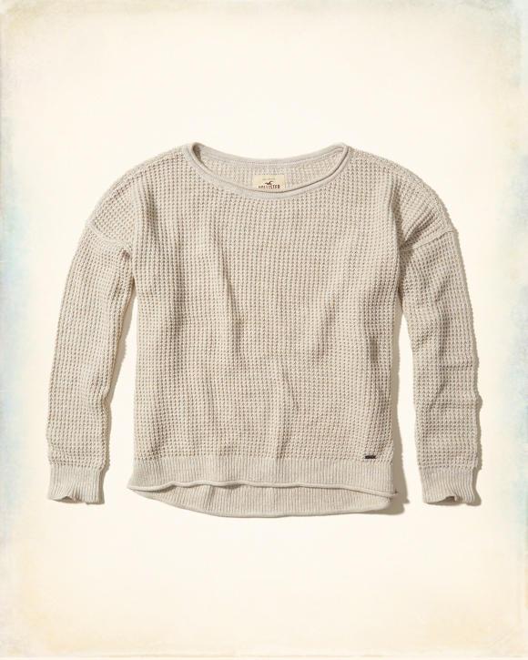Hollister Oberbekleidung Returns Exchanges Hollister Pullover Hollister Hoodies Hollister Jeans: Girls Drop-Shoulder Pullover Sweater