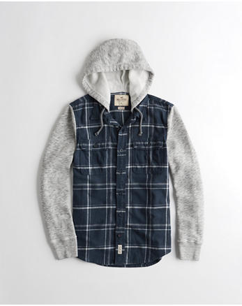 hol Hooded Flannel Shirt