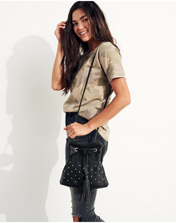hol Vegan Leather Crossbody Bucket Bag