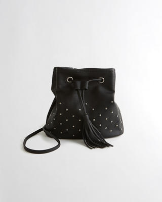 Vegan Leather Crossbody Bucket Bag