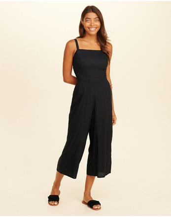 hol Crop Wide-Leg Jumpsuit