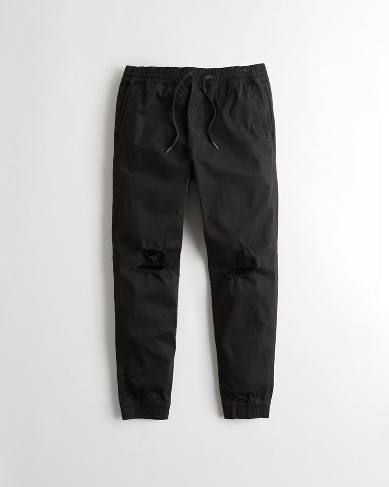 Advanced Stretch Ripped Twill Jogger Pants Joger Riped Jeans