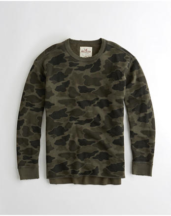 hol Ripped Crewneck Sweatshirt