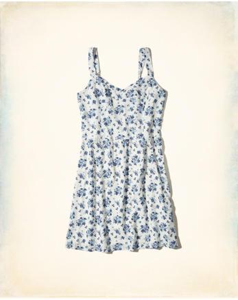 hol Lace-Up Back Woven Dress