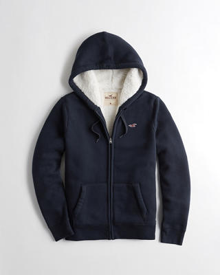 Sherpa-Lined Full-Zip Icon Hoodie