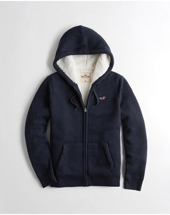 hol Sherpa-Lined Full-Zip Icon Hoodie