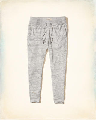 Ripped Skinny Fleece Jogger Pants