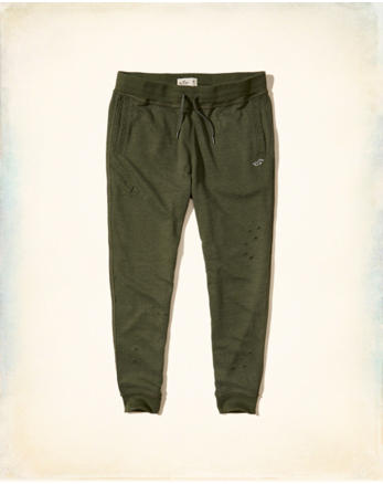 hol Ripped Skinny Fleece Jogger Pants