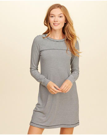 hol Long-Sleeve T-Shirt Dress