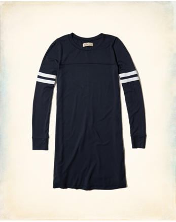 hol Long-Sleeve T-Shirt Dress