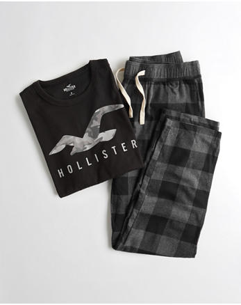 hol Logo Flannel Pant Sleep Set