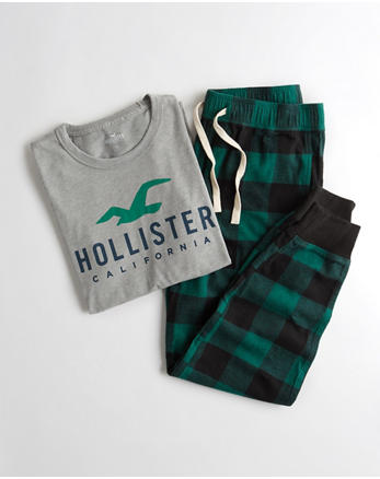 hol Logo Flannel Jogger Sleep Set