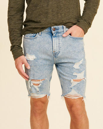 Classic Fit Denim Shorts