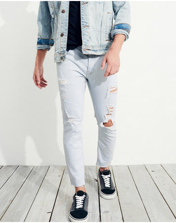 hol Super Skinny Cutoff Ankle Jeans