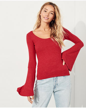 hol Slim Bell-Sleeve Top