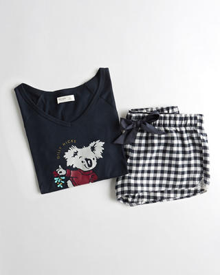 Graphic Flannel Sleep Set