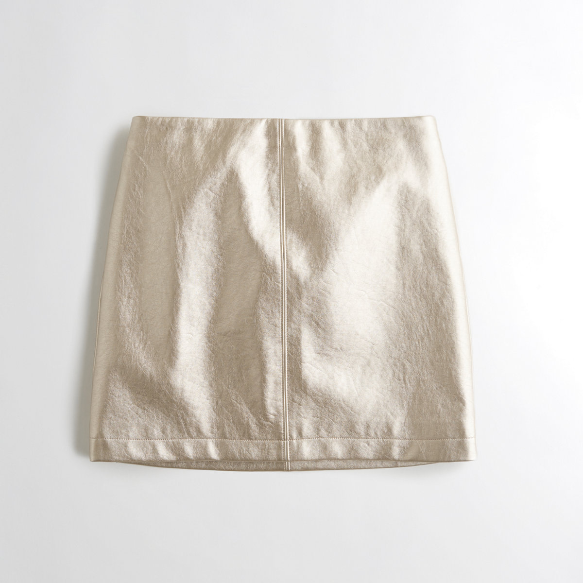 Metallic Vegan Leather Skirt
