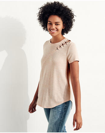hol Lace-Up Easy T-Shirt