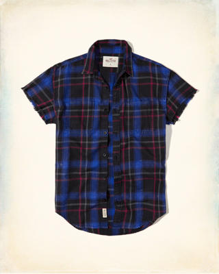 Plaid Twill Utility Shirt