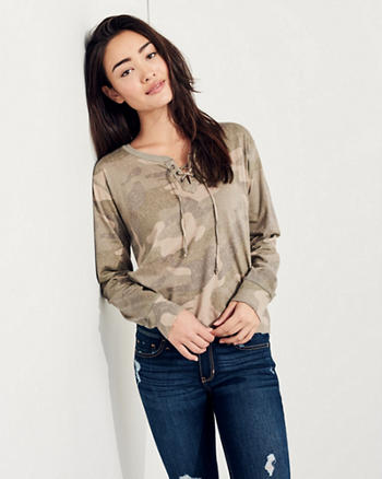 Oversized Lace-Up T-Shirt