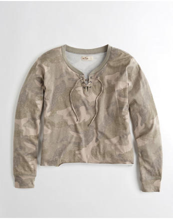 hol Oversized Lace-Up T-Shirt