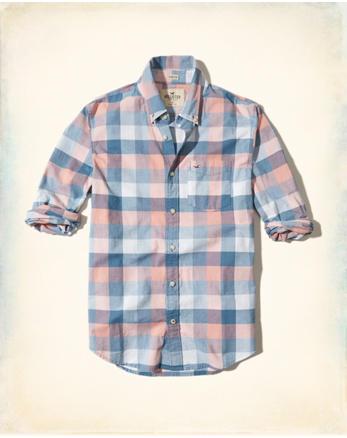 Stretch Plaid Poplin Shirt