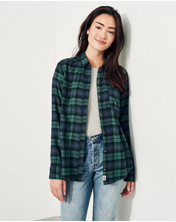 hol Oversized Flannel Shirt