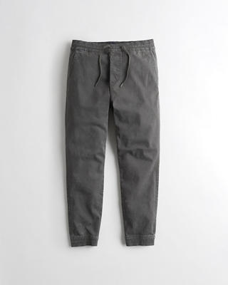 Acid Wash Twill Jogger Pants