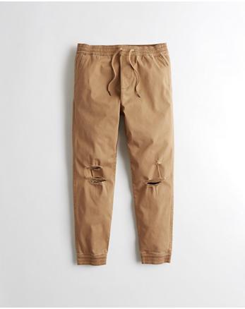 hol Ripped Twill Jogger Pants