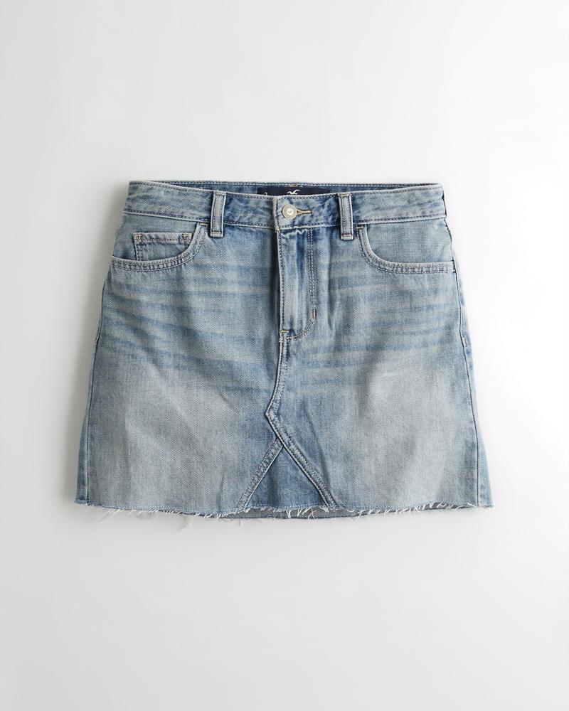 117d5f87b01088 Girls High-Rise Denim Skirt | Girls Clearance | HollisterCo.ca