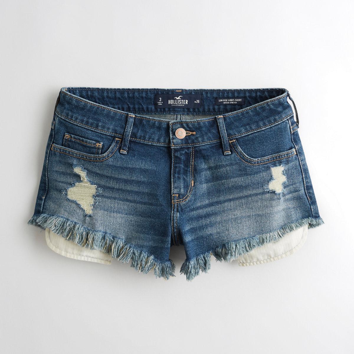 Vintage Stretch Low-Rise Denim Short-Shorts