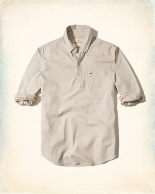 Stretch Oxford Popover Shirt