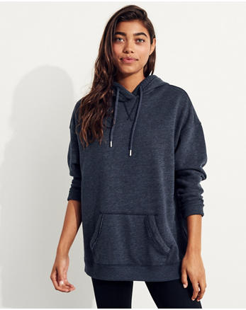 hol Garment-Dyed Cold Shoulder Oversized Hoodie