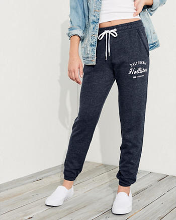 Mid-Rise Banded Sweatpants