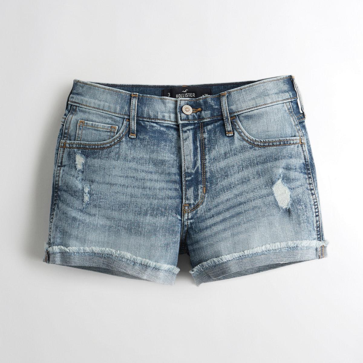 Stretch High-Rise Denim Short-Shorts