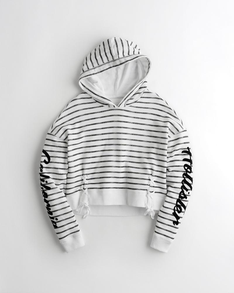 Girls · Sale · Tops · Hoodies   Sweatshirts. Lace-Up Terry Hoodie d5cc70530
