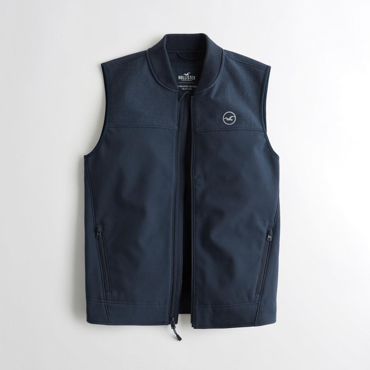 Fleece-Lined Stretch Softshell Vest