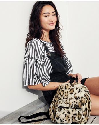 hol Faux Fur Mini Backpack