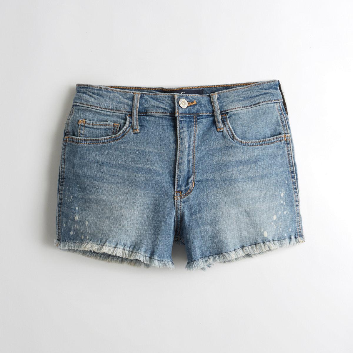 Advanced Stretch High-Rise Denim Short-Shorts