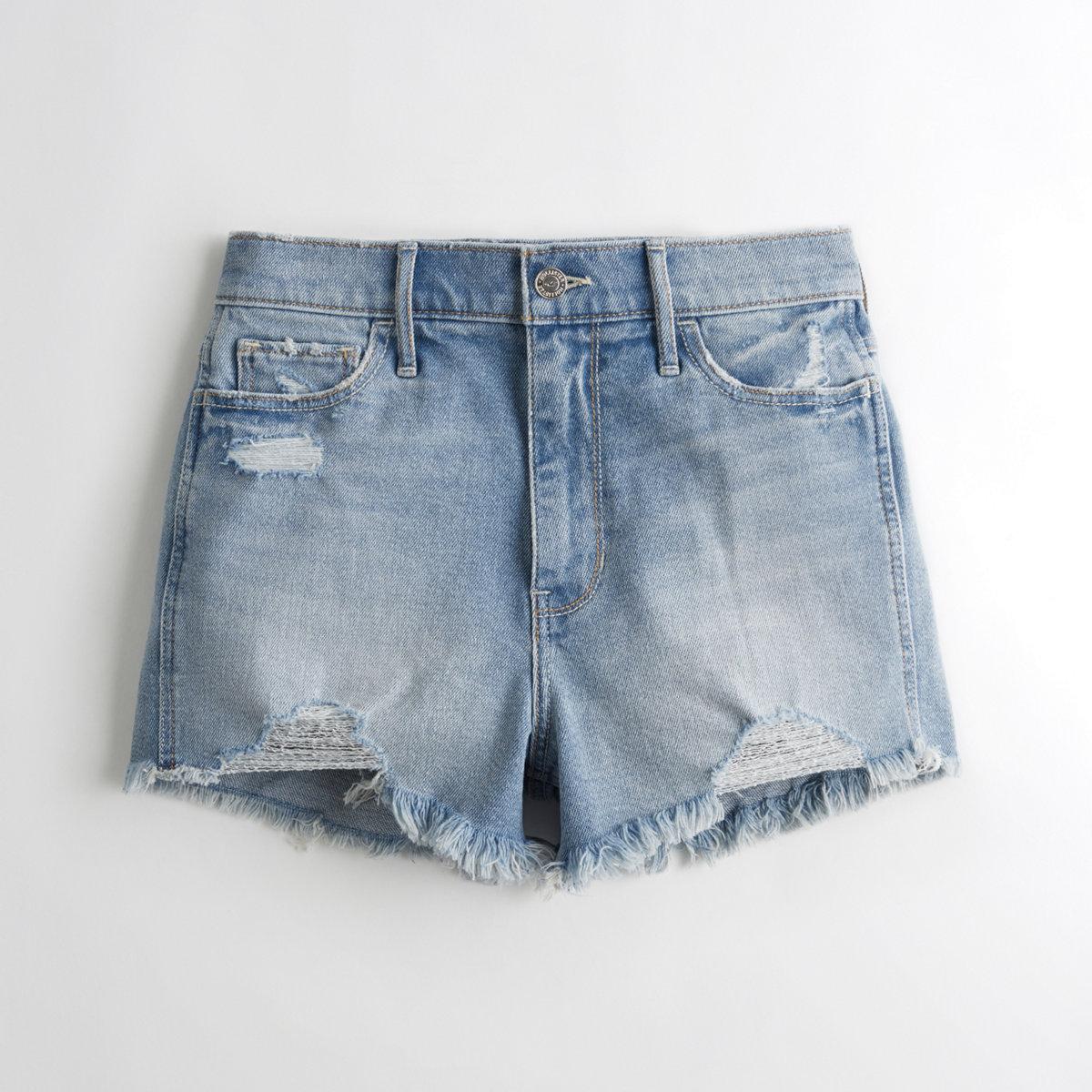 Ultra High-Rise Denim Short-Shorts
