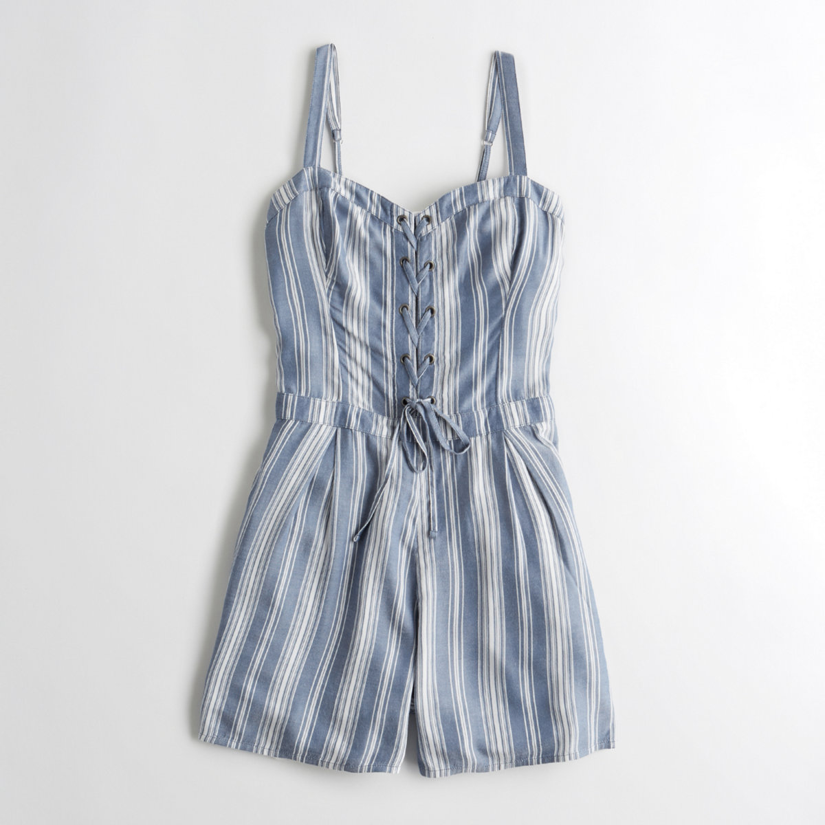 Lace-Up Rayon Romper