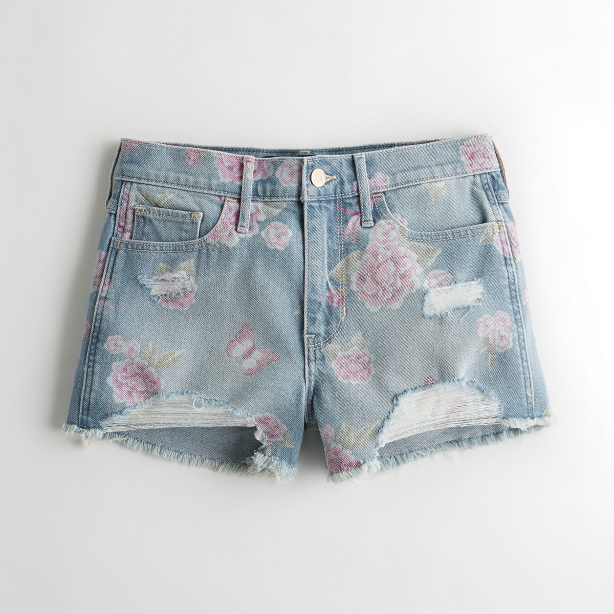 Vintage Stretch High-Rise Denim Short-Shorts