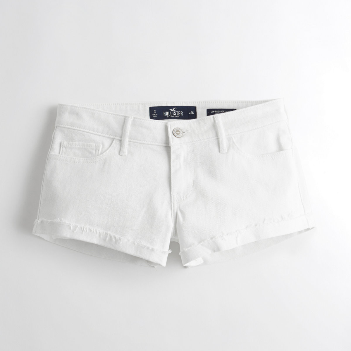 Vintage Stretch Low-Rise Denim Short-Shorts